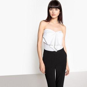 Tee-shirt bustier, nœud en popeline La Redoute Collections