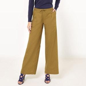Pantalon large, coton/lin R Edition