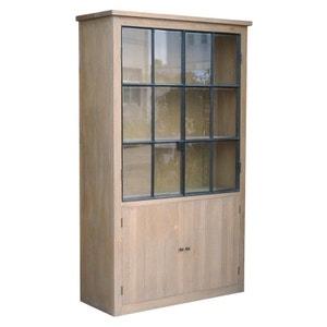 Vaisselier chêne massif 2 portes vitrées ALINE PIER IMPORT
