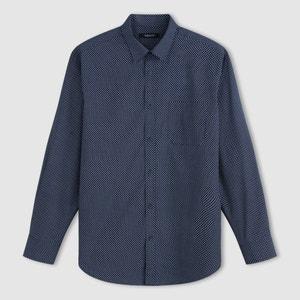 Camisa de popelina estampada, manga larga TAILLISSIME