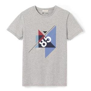 T-shirt z okrągłym dekoltem i graficznym nadrukiem R essentiel