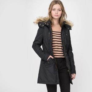 HoodedFaux Fur TrimParka R essentiel