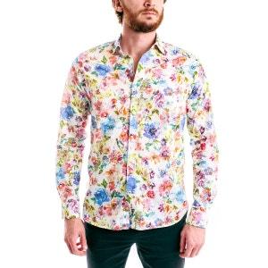 Chemise homme coton japonais à fleurs ABBIE & ROSE