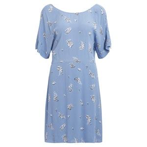 Fliessendes Kleid, kurze Ärmel, hinten überkreuzt VILA