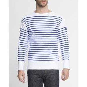 Tee Shirt Ml Mariniere Armor Lux Blanc Bleu ARMOR-LUX