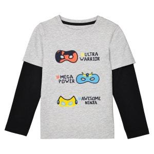 T-shirt 2 en 1 3-12 ans La Redoute Collections