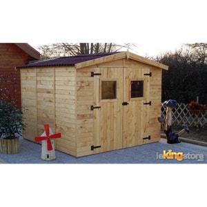 abri de jardin en bois avec plancher la redoute. Black Bedroom Furniture Sets. Home Design Ideas