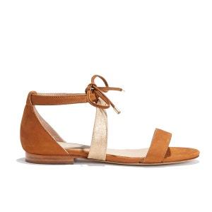 Sandale bicolore cuir vachette irisé L'APHRODITE BOBBIES