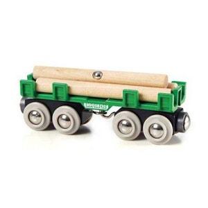 Train Brio : Wagon convoyeur de bois BRIO