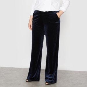 Pantalon large velours CASTALUNA