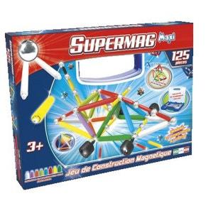 Jeu de construction magnétique : Supermag Maxi 125 pièces MGM