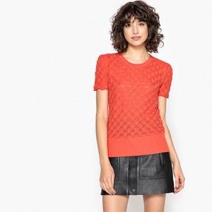 Sweter z okrągłym dekoltem i bufiastymi rękawami La Redoute Collections