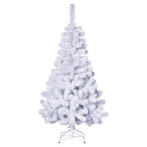 Sapin de Noël artificiel 100% Floqué - H. 150 cm - Blanc ROI DES PINS