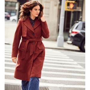 Manteau style trench 40 % laine CASTALUNA