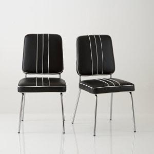 Chaise rétro, acier chromé, Horing, lot de 2 La Redoute Interieurs