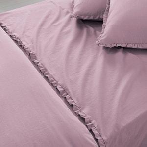 Ondina Plain Sheet in Prewashed Cotton-Linen Blend La Redoute Interieurs