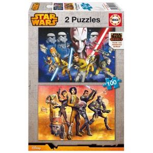 Puzzle 2 x 100 pièces : Star Wars Rebels EDUCA