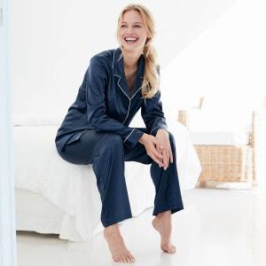 Pyjama chemise en satin La Redoute Collections