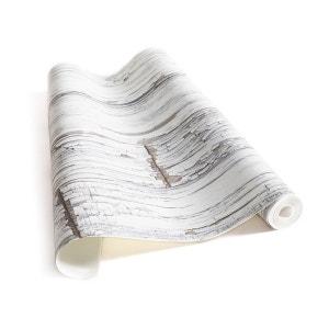 Papier Peint Planches de bois vintage blanches KOZIEL