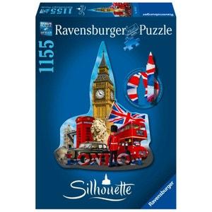 Puzzle 1155 pièces : Silhouette : Big Ben Londres RAVENSBURGER