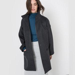 Пальто из меланжевой ткани, 50% шерсти.
