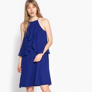 Ärmelloses Kleid aus weich fliessendem Crêpe, 100% Polyester La Redoute Collections