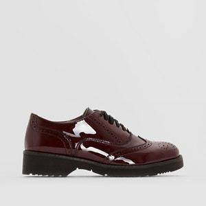Sapatos derbies com biqueira perfurada EG912 CAFENOIR
