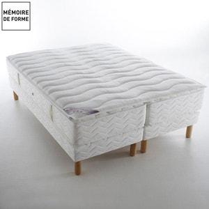 Ensemble BELLE LITERIE : 2 matrassen met 696 pocketveren + 2 beddenbodems + bovenmatras in visco-elastische mousse DUVIVIER