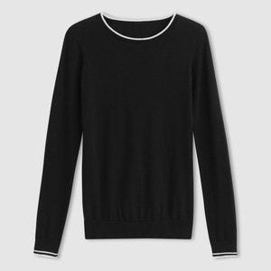 Jersey de algodón, cuello redondo R essentiel