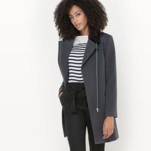 Faux Sheepskin Collar Coat R édition