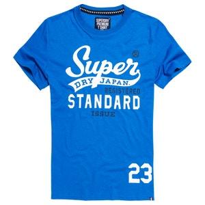 Camiseta con cuello redondo, manga corta SUPERDRY