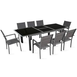 Table de jardin extensible 180/240 cm 8 places BOUTIQUE-JARDIN