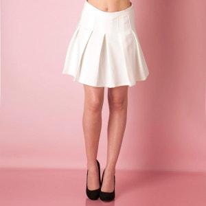 Glamorous Jupe à plis, Crème, Coton, Fermeture éclair GLAMOROUS