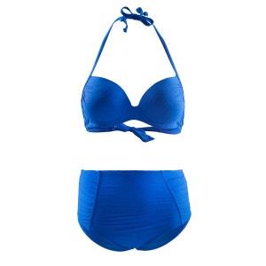 Maillot de bain 2 pièces balconnet push up et culotte haute bleu roi RAE