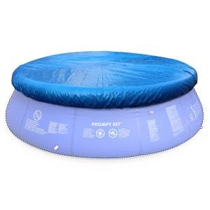 Bâche de protection bleue Ø380cm pour piscine ronde hors sol Ø360cm, housse, cou ALICE S GARDEN