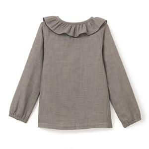 Camisa com quadrados pequenos, 3-12 anos abcd'R