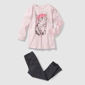 Pyjama jersey imprimé chat 2-12 ans abcd'R