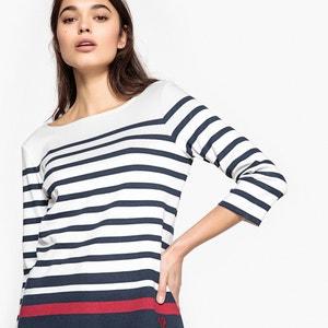 Gestreifter Pullover im Marine-Look, reine Baumwolle TOM TAILOR