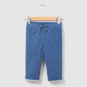 Calças em veludo, forro em jersey, 0 mês-2 anos R mini