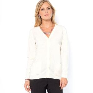 Sweter rozpinany z długimi rękawami z akrylu ANNE WEYBURN