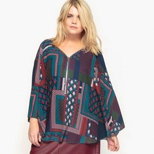 Bedrukte cape blouse CASTALUNA
