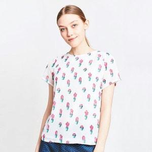 Bedruckte Bluse mit kurzen Ärmeln MIGLE+ME