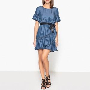 Short-Sleeved Ruffle Dress LIUJO