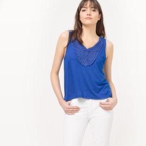 Camiseta sin mangas con detalle de macramé en el escote PEPE JEANS