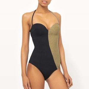 Two-Tone Bandeau Swimsuit R édition