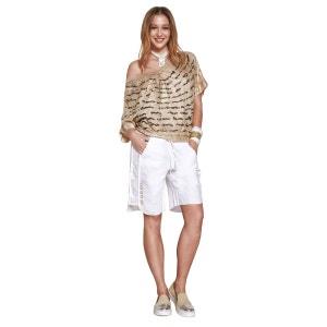 T Shirt col V, Strasses, Chic Et Glamour ELISA CAVALETTI