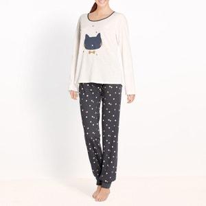 Pyjama imprimé chat en coton R édition