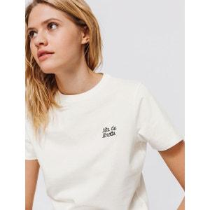 T-shirt brodé 'Tête de linotte' BIZZBEE