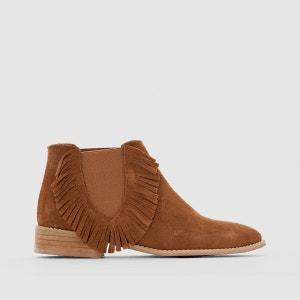 bottines femme marron cuir