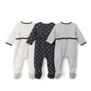 Pyjama in bedrukt katoen 0 mnd - 3 jr (set van 3) La Redoute Collections